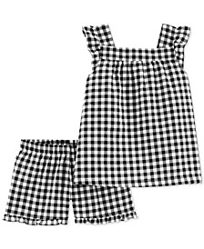 Little & Big Cotton Girls 2-Pc. Gingham Top & Shorts Set