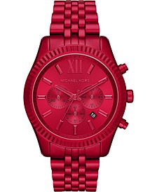 Men's Chronograph Lexington Red Aluminum Bracelet Watch 44mm