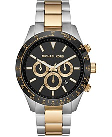 Men's Chronograph Layton Two-Tone Stainless Steel Bracelet Watch 45mm