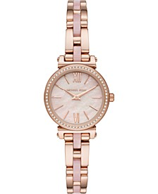 Women's Petite Sofie Rose Gold-Tone Stainless Steel & Blush Acetate Bracelet Watch 26mm