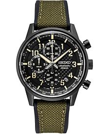 Men's Chronograph Essentials Green Nylon & Silicone Strap Watch 42.7mm