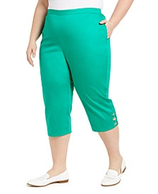 Plus Size Pull-On Capris