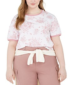 Trendy Plus Size Toile Ringer T-Shirt