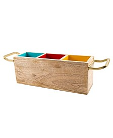 CLOSEOUT! Tri-Color Wood Caddy