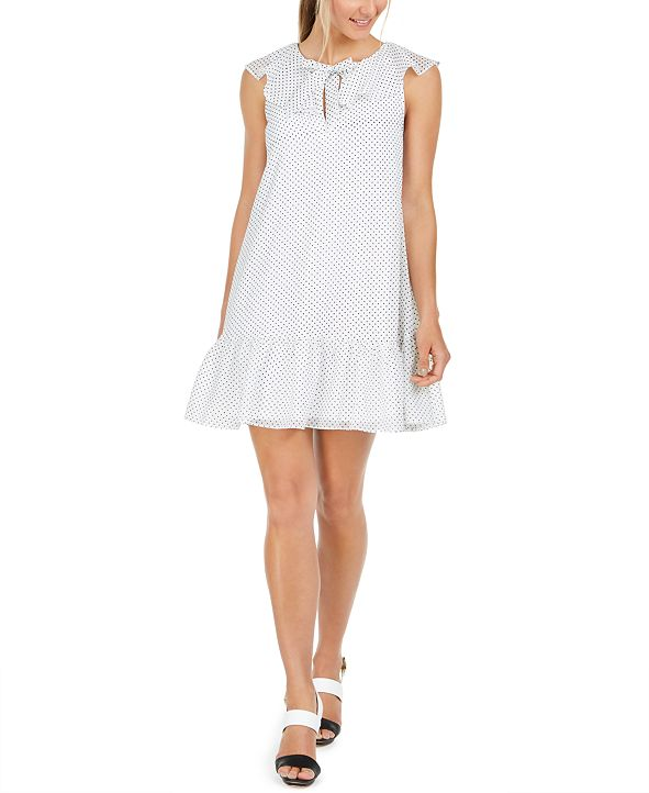 Calvin Klein Polka-Dot Babydoll Dress