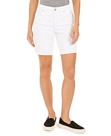 Raw-Edge Bermuda Shorts, Created for Macy's