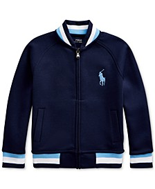 Toddler Boys Double-Knit Cotton-Blend Baseball Jacket