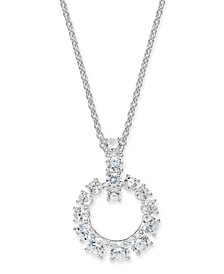 "Cubic Zirconi Door Knocker Pendant Necklace, 16"" + 2"" extender, Created for Macy's"