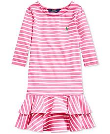Big Girls Striped Stretch Jersey Dress