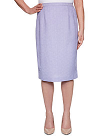 Alfred Dunner Nantucket Knee-Length Skirt
