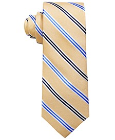 Big Boys Yellow Stripe Silk Tie
