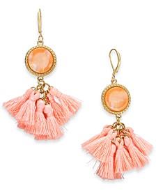 INC Gold-Tone Multi-Tassel Drop Earrings, Created for Macy's