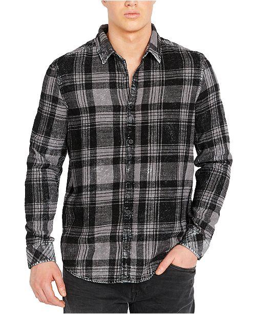 Buffalo David Bitton Men's Washed Plaid Shirt