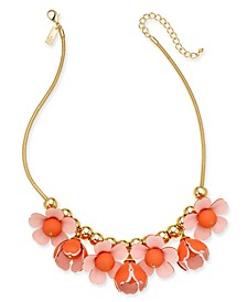 "INC Gold-Tone 3D Flower Statement Necklace, 18"" + 3"" extender, Created for Macy's"