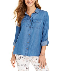 Denim Utility Shirt, Created for Macy's