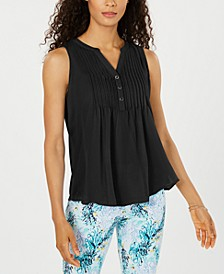 Sleeveless Pintuck Blouse, Created for Macy's