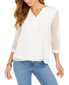 Split-Neck Pintuck Top, Created for Macy's