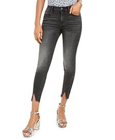 Front-Slit Skinny Jeans