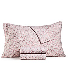 4-Pc. Printed Microfiber Full Sheet Set, Created for Macy's