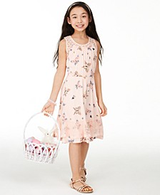 Big Girls Butterfly-Print Challis Dress, Created for Macy's
