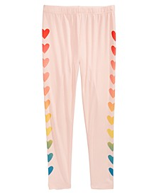 Big Girls Heart Side Leggings, Created for Macy's