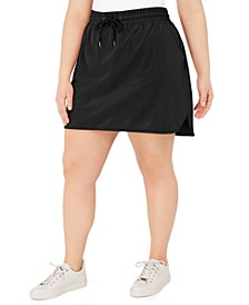 Plus Size Drawstring Skort, Created for Macy's
