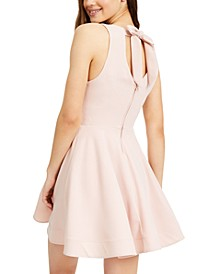 Juniors' Bow-Back Skater Dress
