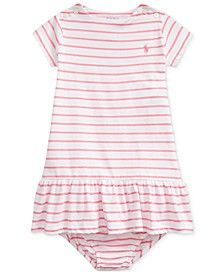 Baby Girls Striped Jersey Dress & Bloomer