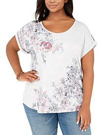 Plus Size Graphic Top, Created for Macy's