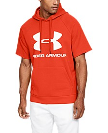 Men's Rival Fleece Logo Short Sleeve Hoodie