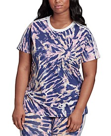 Plus Size Tie-Dyed T-Shirt