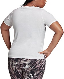 Plus Size Badge Of Sport Logo T-Shirt