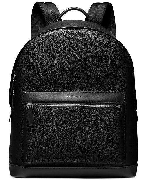 Michael Kors Men's Mason Explorer Leather Backpack