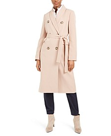 Double-Breasted Belted Trench Coat