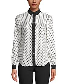 Contrast-Trim Shirt