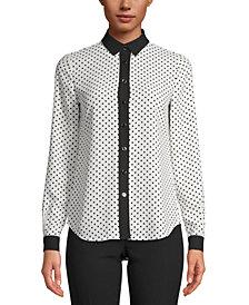 Anne Klein Contrast-Trim Shirt