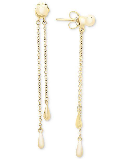 Macy's Chain Drop Earrings in 14k Gold