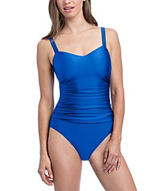 Satin Nights Underwire D-Cup One-Piece Swimsuit
