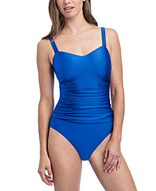 Profile by Gottex Satin Nights Underwire D-Cup One-Piece Swimsuit