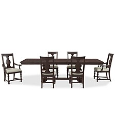 Rosemoor Rectangle Dining 7-Pc. Set, (Table, 4 Side Chairs & 2 Arm Chairs)