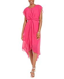 Adiranna Papell Twisted Chiffon Dress