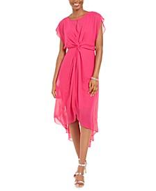 Adiranna Papell Twisted Chiffon Dress