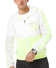 Men's Kors X Tech Overlay Mesh Hooded Jacket
