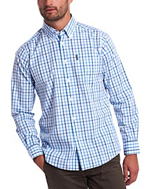 Men's Tailored-Fit Tattersall Check 15 Shirt