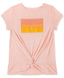 Big Girls Twisted Glitter T-Shirt