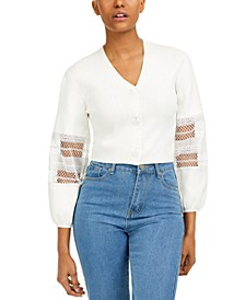 Kaya Cotton Mesh-Inset Blouse