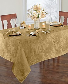 "Elrene Poinsettia Jacquard Holiday Tablecloth - 60"" x 102"""