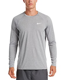 Men's Heather Hydroguard Long Sleeve Swim T-Shirt