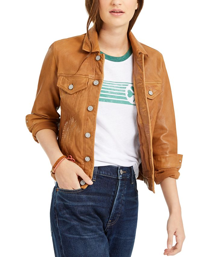 Lucky Brand - Leather Trucker Jacket