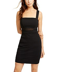 Juniors' Illusion-Waist Bandage Dress